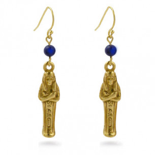 Mummy Earrings with Lapis