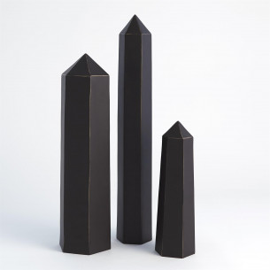 Olympian Obelisk - Bronze with Gold Highlights - 3 sizes
