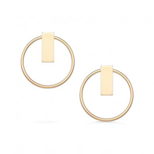 Open Duo Studs - Gold