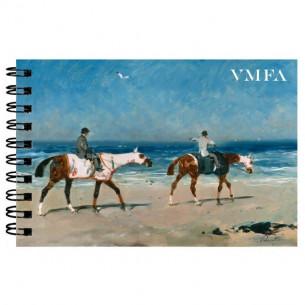 *René Pierre Charles Princeteau Race Horses on the Beach Notebook