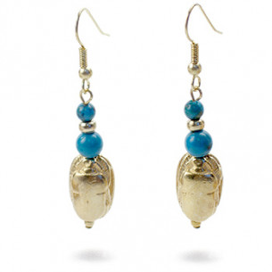 Scarab & Turquoise Earrings