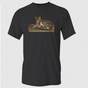 Steinlen Cat Lying on the Floor T-Shirt