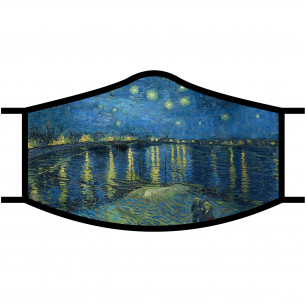 Face Mask - Van Gogh Starry Night Over the Rhone