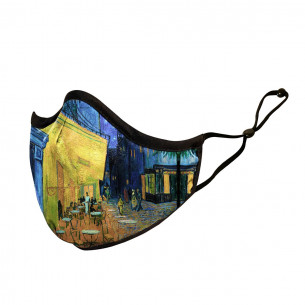 Face Mask - Van Gogh Terrace at Night