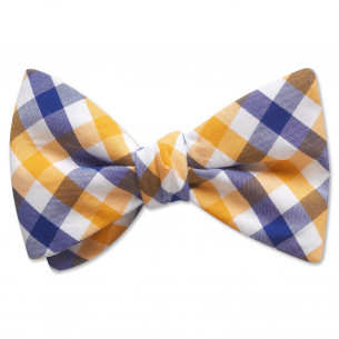 Bow Tie - Visage Plaid Blue/Orange